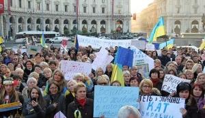 У Римі продовжується Євромайдан проти політики чинної влади в Україні