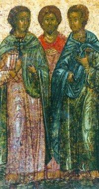 святі муч Євтропій, Клеонік, Василиск